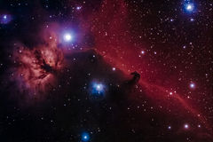 Barnard 33 - The Horsehead Nebulae. A astrophoto of the famous obscure nebulae in Orion Stock Images
