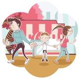 barnarrest vektor illustrationer