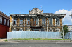Barnaul,俄罗斯, 2016年8月, 17日 建筑学的纪念碑-克鲁格药房在普希金街道上的, 19世纪的结尾 库存图片