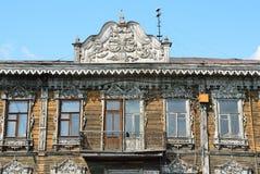 Barnaul,俄罗斯, 2016年8月, 17日 建筑学的纪念碑-克鲁格药房在普希金街道上的, 19世纪的结尾 e 免版税库存图片