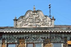 Barnaul,俄罗斯, 2016年8月, 17日 建筑学的纪念碑-克鲁格药房在普希金街道上的, 19世纪的结尾 e 免版税库存照片