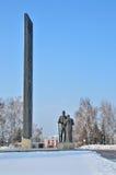 Barnaul,俄罗斯, 2016年1月, 14日 胜利正方形在Barnaul 图库摄影