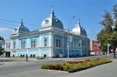 Barnaul,俄罗斯, 2016年8月, 17日 Barnaul精神学校的前大厦,建筑学的纪念碑 库存照片