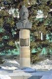 Barnaul, Ρωσία, 13 Ιανουαρίου, 2016 Κανένας, μνημείο σε Prisyagn Ivan Bonifatevich, πρόεδρος του πρώτου Προέδρου Barnaul και Στοκ φωτογραφία με δικαίωμα ελεύθερης χρήσης