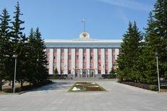 Barnaul, de het Beleidsbouw van Rusland stock foto's