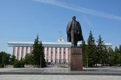 Barnaul, de het Beleidsbouw van Rusland stock foto