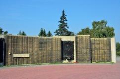 Barnaul, Rosja, Sierpień, 17, 2016 Nikt, czerep pomnik ku pamięci spadać w wielkiej Patriotycznej wojnie w Barnaul Obraz Royalty Free