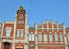 Barnaul, Rusland, 17 Augustus, 2016 Niemand, de bouw van de Barnaul-bouwjaren van de stadsdouma 1914-1916 Stock Foto's
