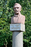 Barnaul, Russia, August, 17, 2016. The monument to the geographer, the traveler, the Vice-Chairman of the Russian geographical soc Stock Image