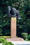 Barnaul, Russia, August, 17, 2016. The monument to Tsaplin Maksim Konstantinovich - Chairman of the military revolutionary Committ Stock Images