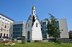 Barnaul, Russia, augusta, 17, 2016 Cappella del martire santo Tatiana Immagini Stock Libere da Diritti
