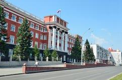 Barnaul, Russia, augusta, 17, 2016 La costruzione del tribunale regionale di Altai di Barnaul Fotografie Stock