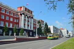 Barnaul, Russia, augusta, 17, 2016 La costruzione del tribunale regionale di Altai di Barnaul Fotografia Stock