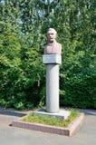 Barnaul, Russia, augusta, 17, 2016 Monumento allo S I Gulyaev - etnografo, storico, una figura pubblica prominente del Altai Mo Immagine Stock Libera da Diritti