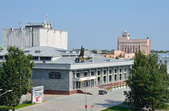 Barnaul, Russia, augusta, 17, 2016 Teatro regionale di dramma dell'Altai di Shukshin Immagini Stock Libere da Diritti