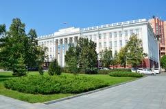 Barnaul, Russia, augusta, 17, 2016 Università di Stato di Altai in Barnaul Fotografie Stock Libere da Diritti