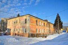 Barnaul, Russia, January, 13, 2016, Barrack buildings in the district of new market in Barnaul Stock Photography