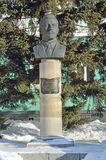 Barnaul, Russia, January, 13, 2016. Nobody, monument to Prisyagn Ivan Bonifatevich, chairman of the first President of Barnaul and Royalty Free Stock Photography