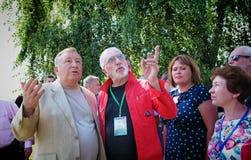 Barnaul,Russia-17 Jul 2018.Film Director Victor Merezhko at the Shukshin film festival. Film Director Victor Merezhko at the Shukshin film festival royalty free stock image