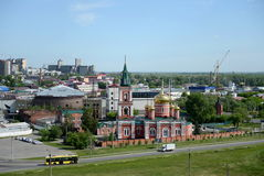 Znamensky nunnery of the Barnaul diocese of the Russian Orthodox Church. Stock Photography