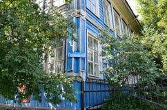 Barnaul Ryssland, Augusti, 17, 2016 byggnaden var i 1917-1918 var rådet av soldat`- och arbetar`-ersättare i Barnaul Arkivbild