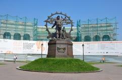 Barnaul Ryssland, Augusti, 17, 2016 Inget monumentet till invandrarna till Altai, Barnaul Royaltyfri Foto