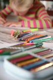 barnavläsningswriting fotografering för bildbyråer