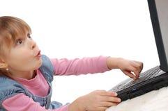 barnbärbar dator royaltyfria bilder