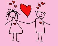 Barnbild om förälskelse Arkivbild
