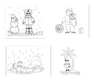 barnbilder s vektor illustrationer