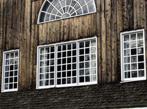 Barnboard Windows Fotografie Stock
