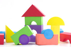 Barnbyggnadskvarter Fotografering för Bildbyråer