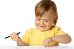 barncrayons tecknar skämtsamt leende fotografering för bildbyråer