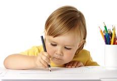 barncrayonsdraw fotografering för bildbyråer