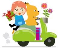 barncyklister stock illustrationer