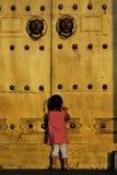 barndörrframdel Arkivbilder