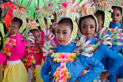Barndans i den Calauan Pinya festivalen 2017 Arkivbild