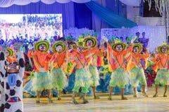 Barndans i den Calauan Pinya festivalen 2017 Royaltyfria Bilder