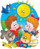 barndom 001 Stock Illustrationer