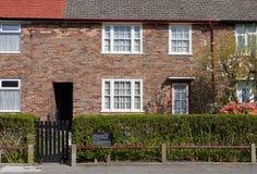 Barndomhem av Sir Paul McCartney i Liverpool Fotografering för Bildbyråer