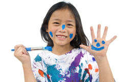 barndommålning Royaltyfri Fotografi