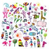 barndraw vektor illustrationer