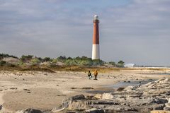 Barnegat从看的大西洋的灯塔视图  免版税库存照片