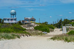 Barnegat Beach Homes Royalty Free Stock Images