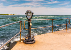 Barnegat Inlet, Long Beach Island, NJ, USA. Barnegat Inlet with viewer in Long Beach Island, NJ, USA Stock Images