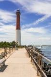 Barnegat-Leuchtturm in Long Beach -Insel, NJ, USA Stockfotografie