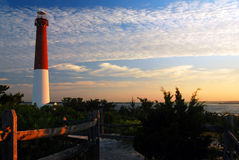 Barnegat Light, Old Barney, bathed in morning light Royalty Free Stock Photography