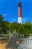 Barnegat Lighthouse and Dunes Stock Image