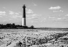 Barnegat Lighthouse, New Jersey, black and white Royalty Free Stock Photography