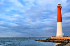 Barnegat Lighthouse on the New Jersey Coast Shore Stock Images